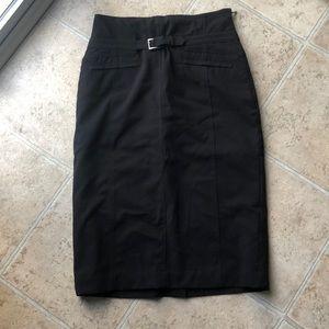 NWOT black textured skirt
